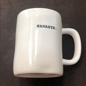 """Rae Dunn ceramic """"NAMASTE"""" mug"""